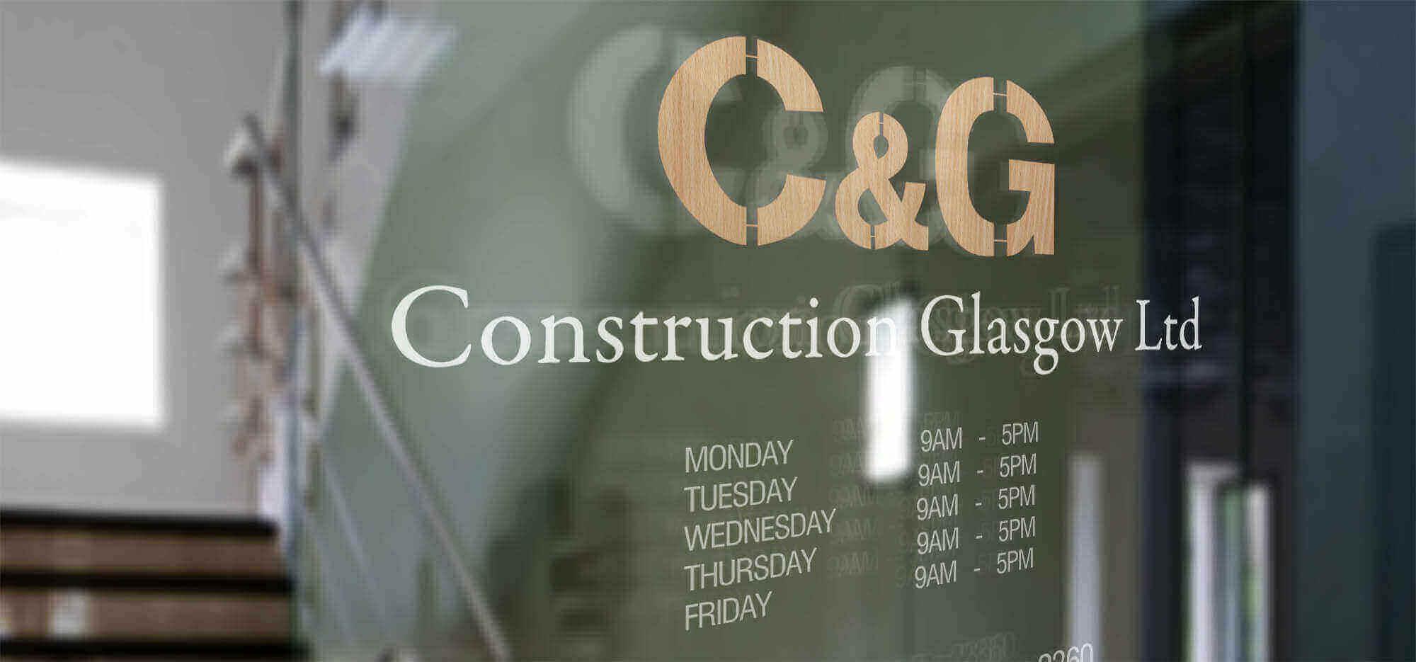 CG Construction Window Signage