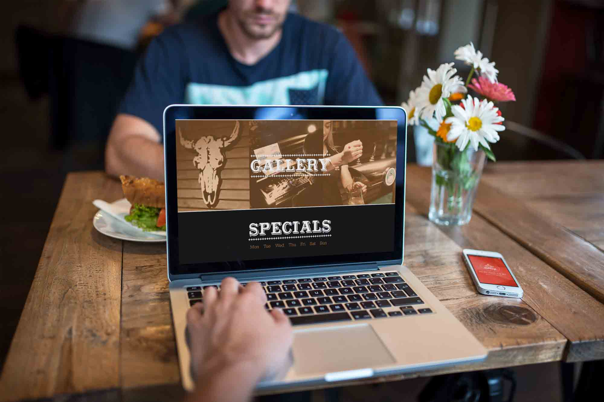 Shooters Bar Website Design