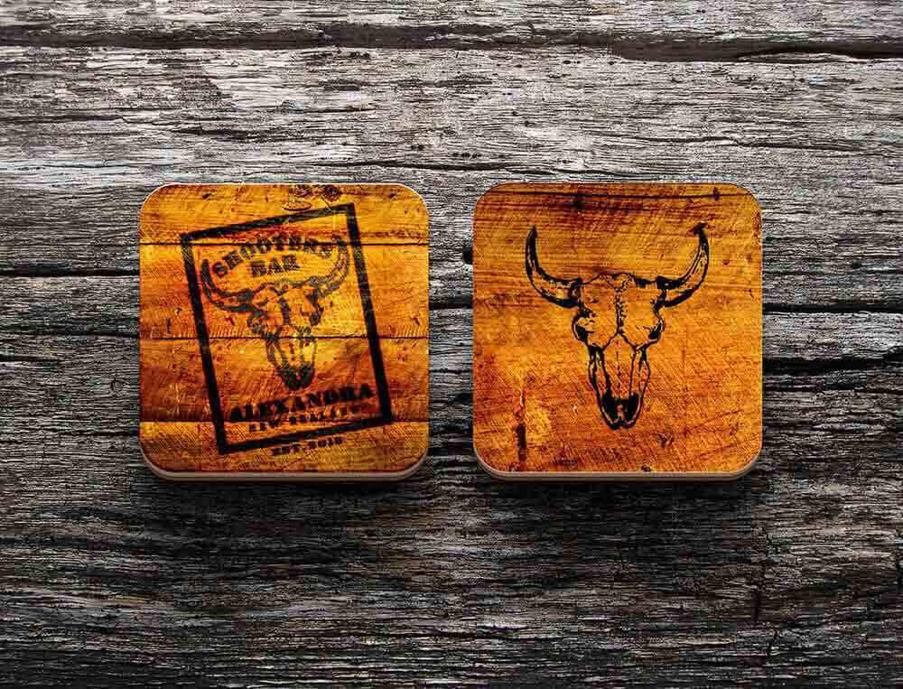 Shooters Bar Drink Coasters