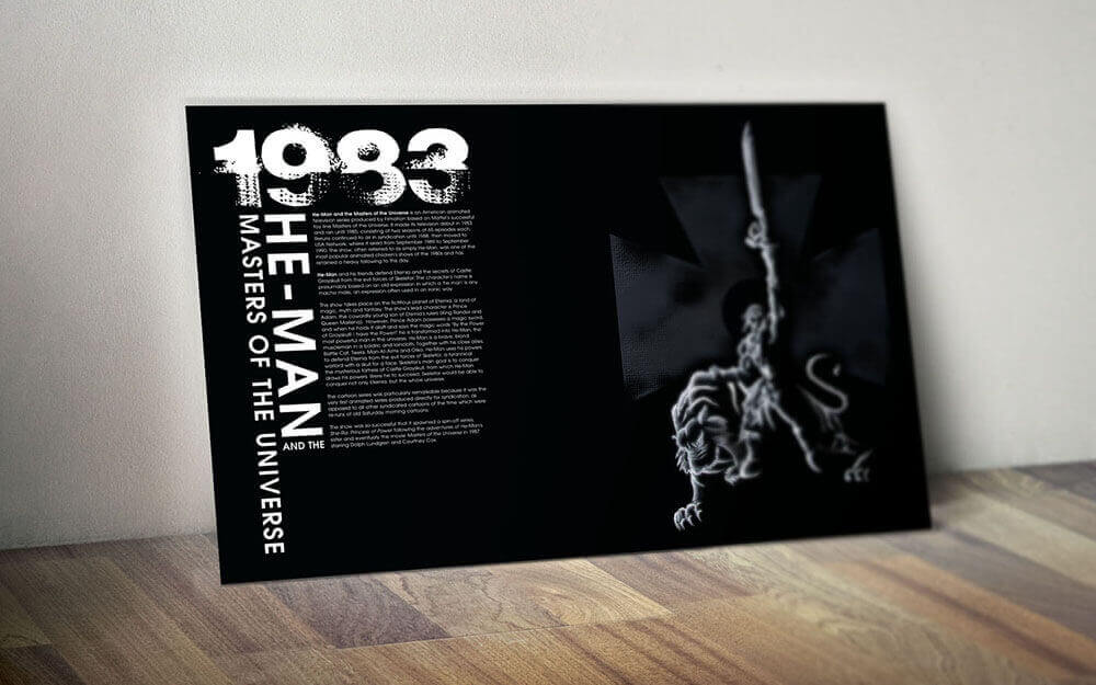 Exhibition Poster Showcasing Eighties Animated Television Show He-Man