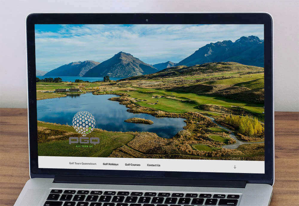 Peak Golf Queenstown Website Home Page