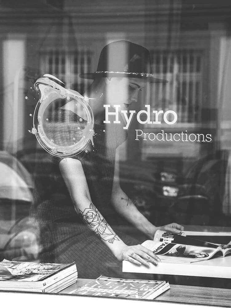 Hydro Recordings Window Signage