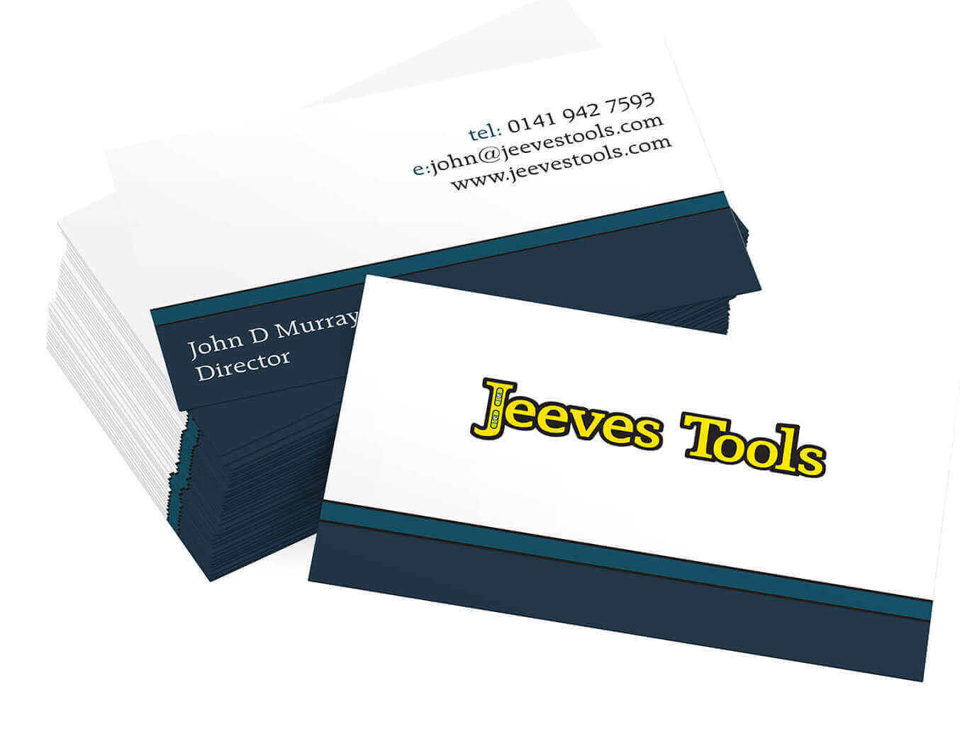Jeeves Tools Business Cards Design
