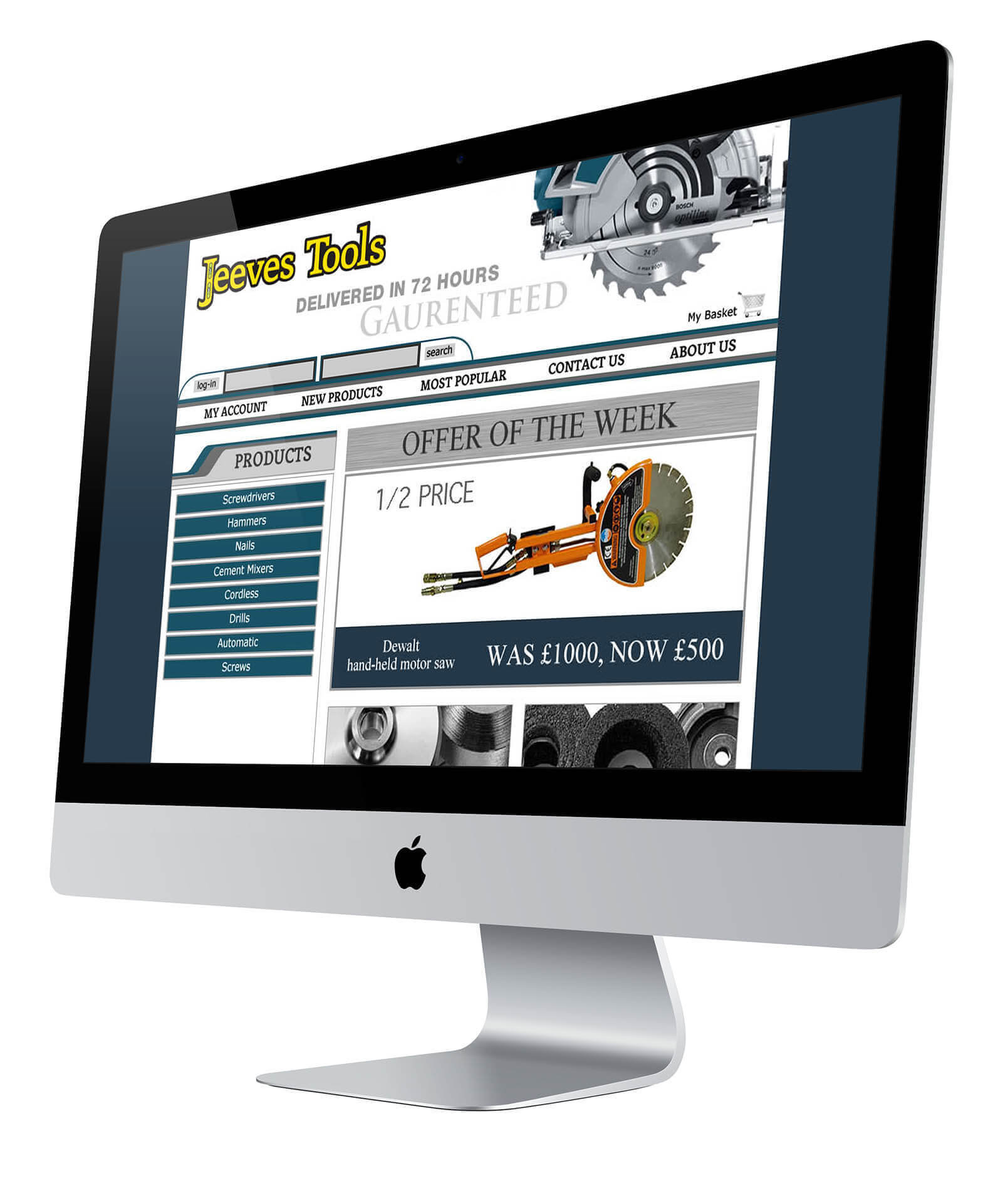 Jeeves Tools Website Design Homepage
