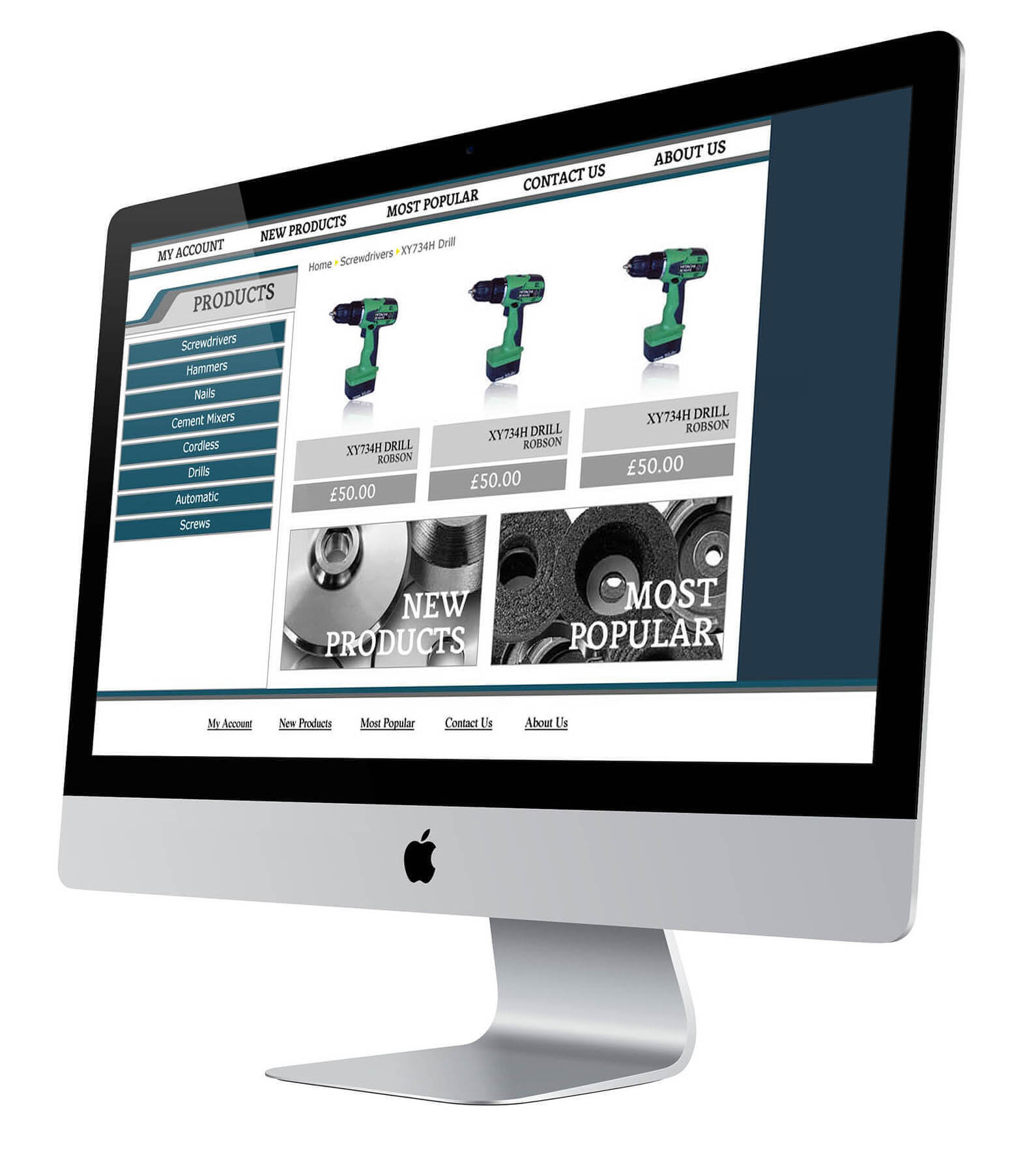 Jeeves Tools Website Design Product Page