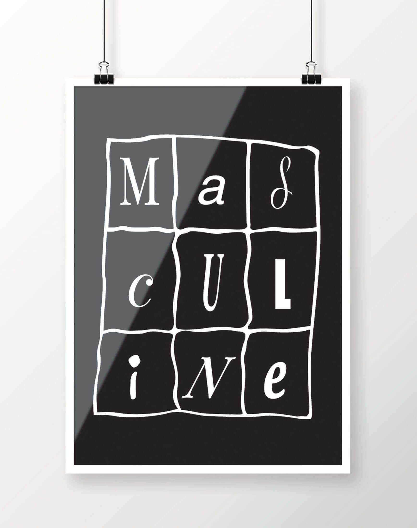 Masculine Poster