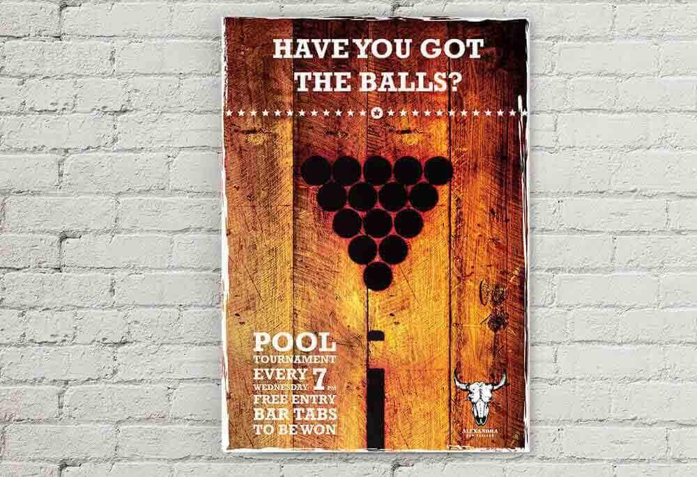 Shooters Bar Advertising Poster