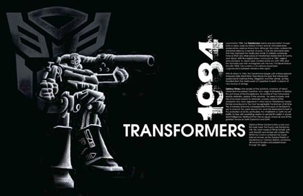 Exhibition Poster Showcasing Eighties Animated Television Show Transformers Poster
