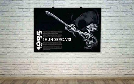Exhibition Poster Showcasing Eighties Animated Television Show Thundercat's Poster