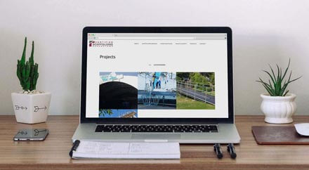 Certified Scaffolding Website design projects page
