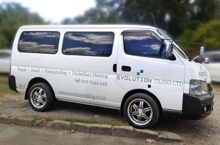 Evolution Tiling Vehicle Wrap