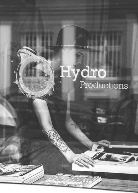 Hydro Recordings Window Signage