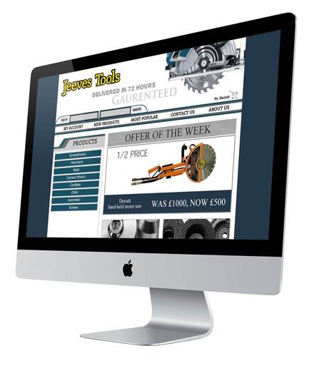 Jeeves Tools Website Design Homepage