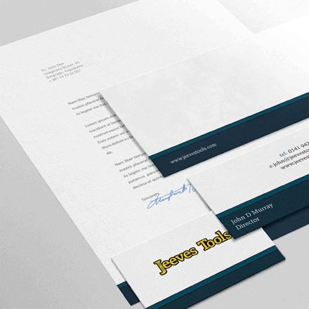 Jeeves Tools Stationery Design