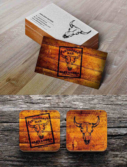 Shooters Bar Business Cards