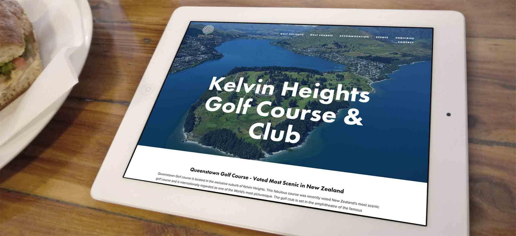 Peak Golf Mobile First Website