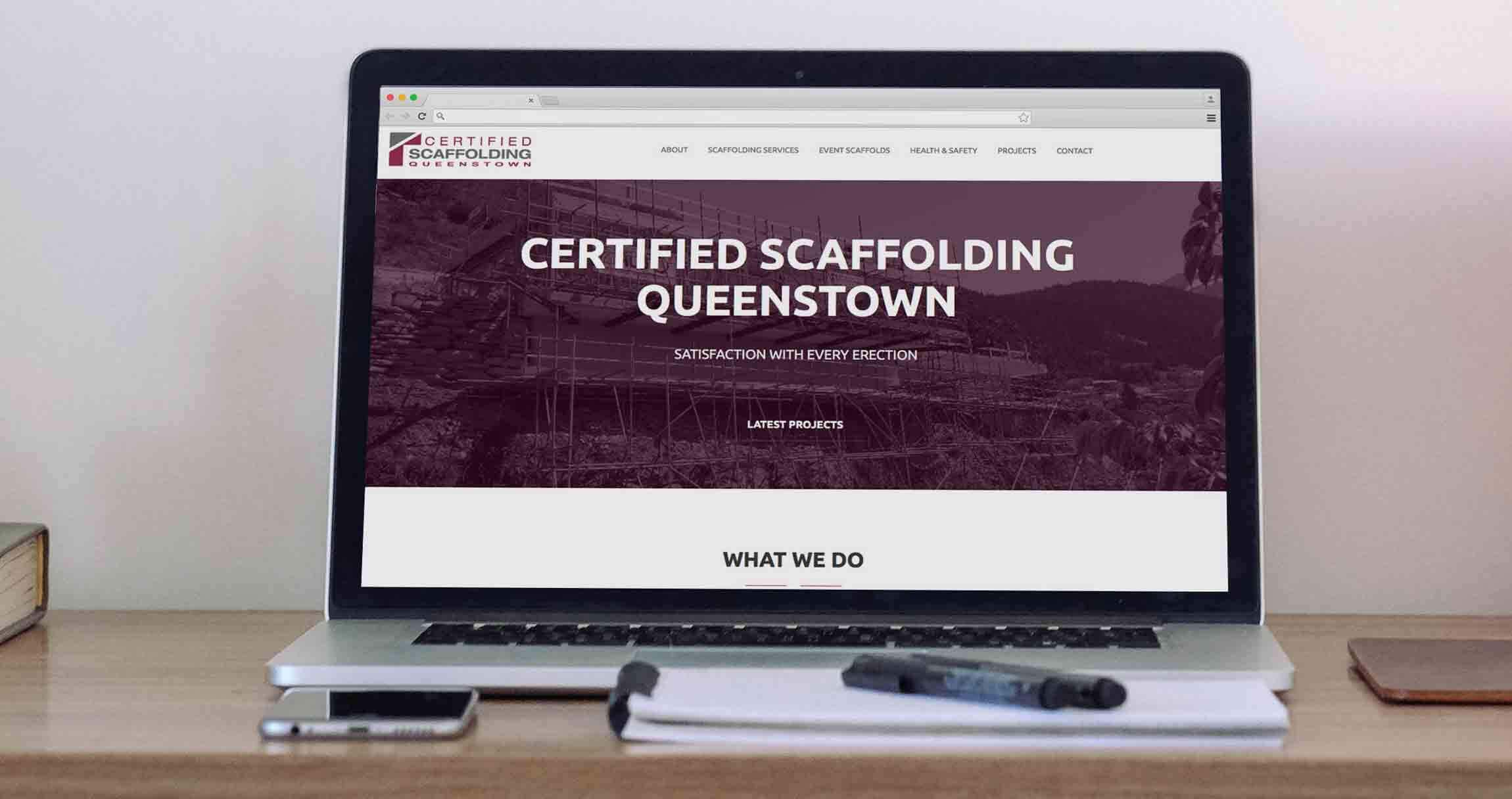 Certified Scaffolding Website Design