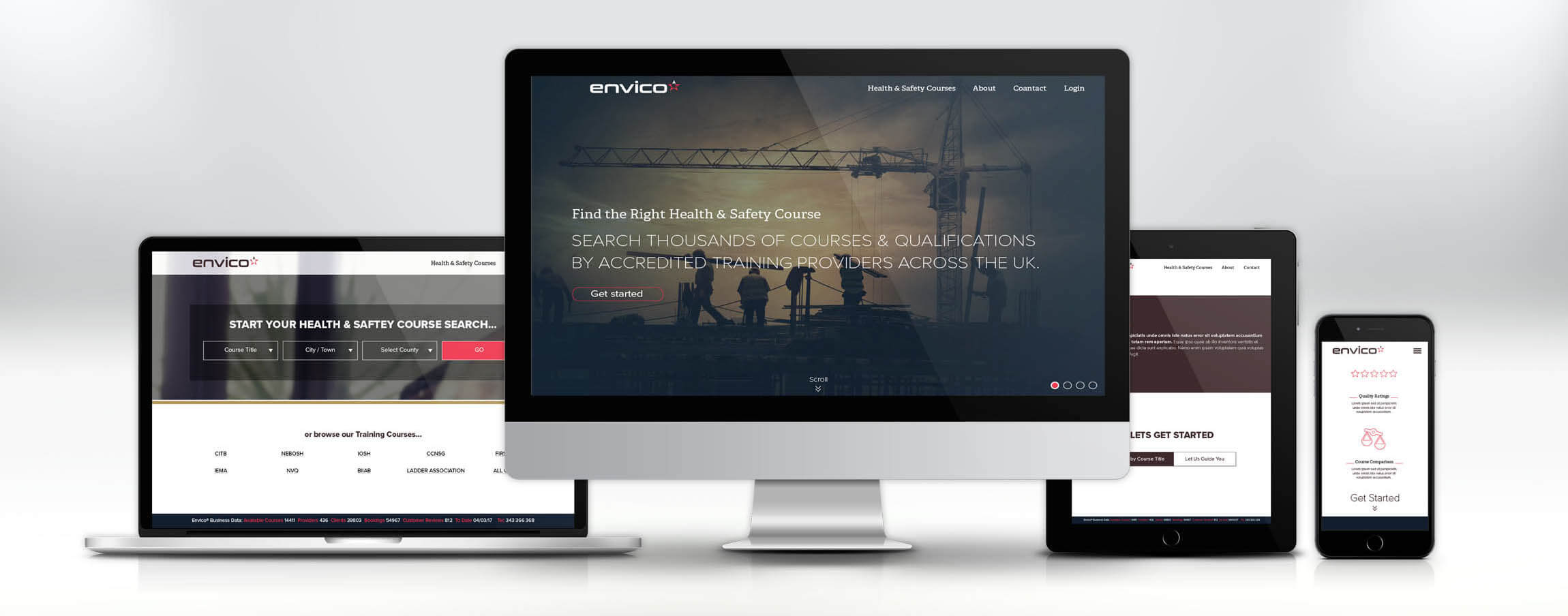 Envico Mobile-First Website